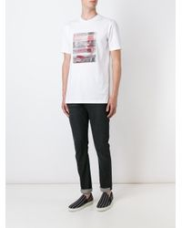 Lanvin - White Abstract Print T-shirt for Men - Lyst