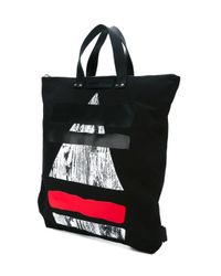 McQ - Black 'fold' Tote Backpack for Men - Lyst