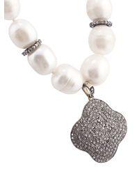 Carole Shashona - White 'blanc Lotus' Necklace - Lyst