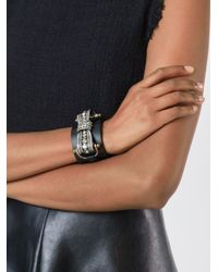Lanvin - Black Bow Embellished Detail Bracelet - Lyst
