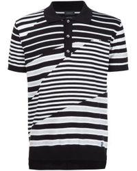 DIESEL - Black Multi Stripe Polo Shirt for Men - Lyst