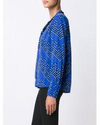 Diane von Furstenberg - Blue Printed Blouse - Lyst