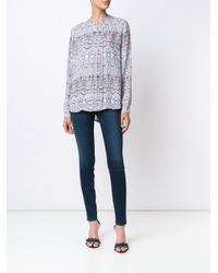L'Agence - White Printed Blouse - Lyst