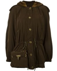 Moschino | Brown Bag Detail Coat | Lyst