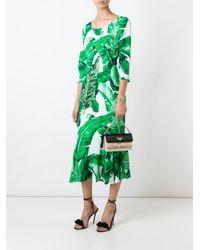 Dolce & Gabbana - White Banana Leaf Print Dress - Lyst