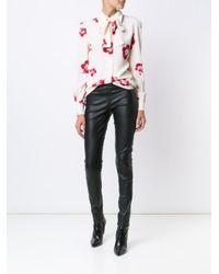 Saint Laurent - White Hibiscus Floral Print Shirt - Lyst