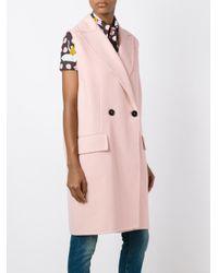 Marni - Multicolor Sleeveless Midi Coat - Lyst