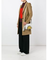 Anya Hindmarch - Metallic 'smiley' Crossbody Bag - Lyst