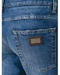 Dolce & Gabbana - Blue Straight Leg Jeans for Men - Lyst