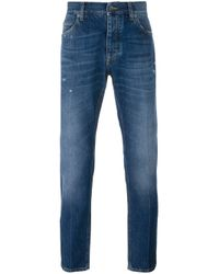 Dolce & Gabbana | Blue Straight Leg Jeans for Men | Lyst
