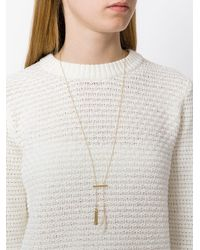 Isabel Marant | Metallic Hanging Feather Necklace | Lyst