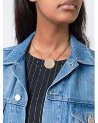 Isabel Marant - Metallic Flat Circle Necklace - Lyst