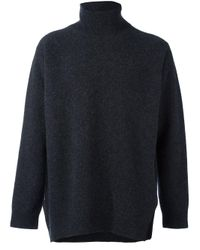 Ports 1961 | Gray 'fully Fashioned' Turtleneck Sweater for Men | Lyst