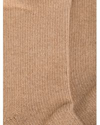 Erika Cavallini Semi Couture - Natural Knitted Socks - Lyst