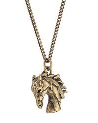 Roberto Cavalli - Metallic 'pegasus Head' Necklace for Men - Lyst