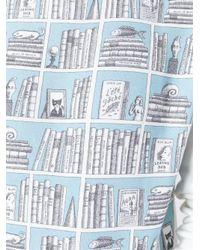Olympia Le-Tan - Blue Printed Sweatshirt - Lyst