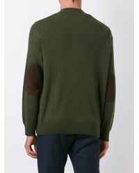 Polo Ralph Lauren | Green Elbow Patch Cardigan for Men | Lyst