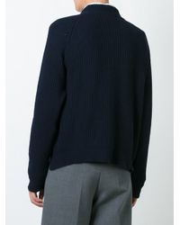 Erika Cavallini Semi Couture - Blue - Ribbed Jumper - Women - Cashmere/virgin Wool - L - Lyst