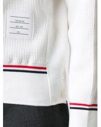 Thom Browne | White Trim Detailing Sweatshirt for Men | Lyst