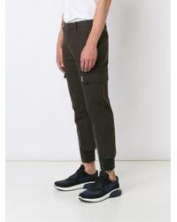 Neil Barrett   Green Zipped Ankle Trousers for Men   Lyst
