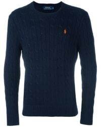 Polo Ralph Lauren | Blue Cable Knit Sweater for Men | Lyst