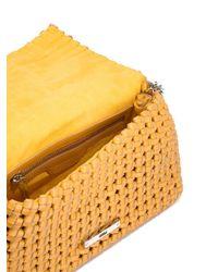 Stella McCartney - Purple Mini 'becks' Weaved Shoulder Bag - Lyst