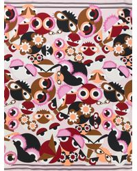 Fendi - Multicolor Monster Print Foulard - Lyst