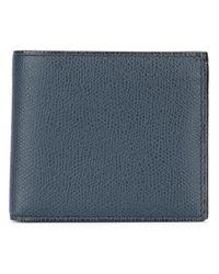Valextra - Blue Textured Billfold Wallet for Men - Lyst