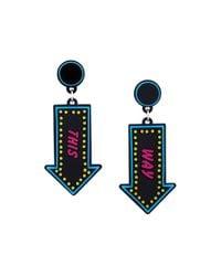 Yazbukey | Black Arrow Pendant Earrings | Lyst