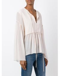Chloé - Pink Peasant Blouse - Lyst