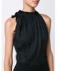 Jason Wu Black Slit Halterneck Dress