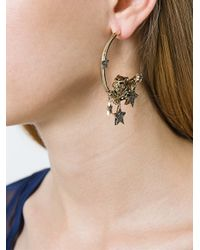 Roberto Cavalli - Metallic 'stars' Hoop Earrings - Lyst