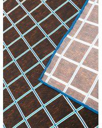 Kiton - Brown Grid Check Pocket Square for Men - Lyst