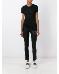 Versace - Black Medusa Mesh Accent T-shirt - Lyst