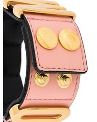 Moschino - Pink Logo Plaque Bracelet - Lyst