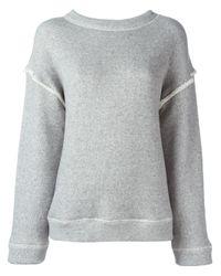 Helmut Lang   Gray Basic Sweatshirt   Lyst