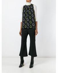 Etro - Black Circle Print Sleeveless Blouse - Lyst