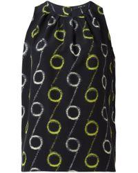 Etro | Black Circle Print Sleeveless Blouse | Lyst