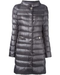 Herno - Gray Padded Coat - Lyst