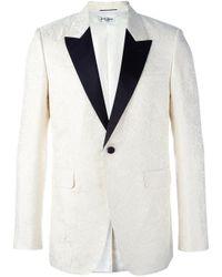 Saint Laurent - White Monochrome Smoking Jacket for Men - Lyst