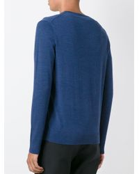 Polo Ralph Lauren - Blue V Neck Jumper for Men - Lyst