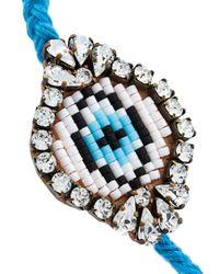 Shourouk - Blue 'eye' Beaded Bracelet - Lyst
