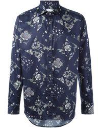 Etro | Blue Floral Print Shirt for Men | Lyst