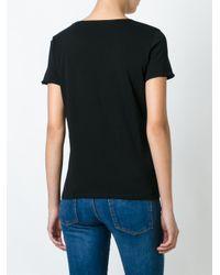 Alexander McQueen | Black Butterfly And Moth Print T-shirt | Lyst