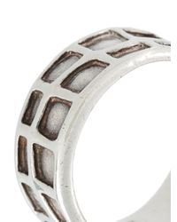 Jean Paul Gaultier - Metallic Chunky Textured Ring for Men - Lyst