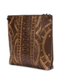 B May - Brown Textured Cross-body Bag - Lyst