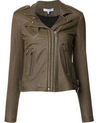 IRO | Green Biker Leather Jacket | Lyst
