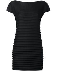 Issey Miyake Cauliflower - Black Pleated Mini Dress - Lyst