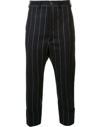 Vivienne Westwood | Black Cropped Drop-crotch Pinstripe Trousers for Men | Lyst