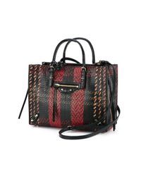 Balenciaga - Black - Chevron Print Top Handle Bag - Women - Leather/python Skin - One Size - Lyst